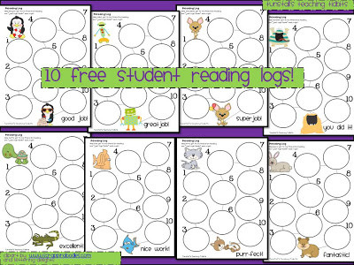 I promise I know how to count…really…Free Reading Logs Updated