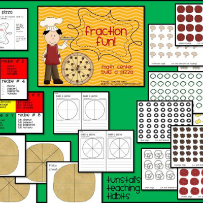 Build a Pizza Math Center!