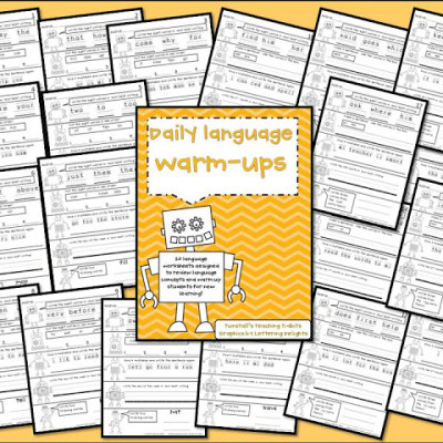 Daily Warm Ups for Math and Language!