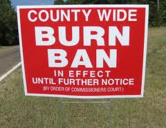 Currently Burn Ban!