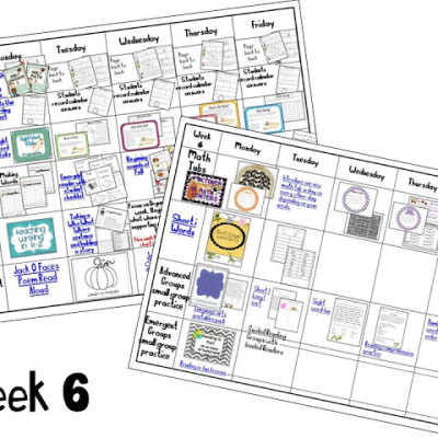Week 6 Plans and Writing Lesson