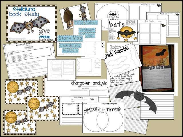 Bats Stellaluna And Visual Plans Tunstall S Teaching
