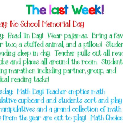 The Last Week Of School Survival