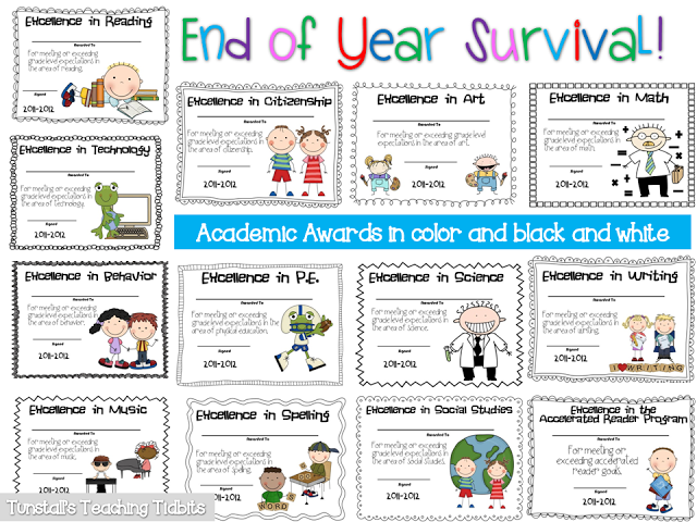 photo relating to Printable End of the Year Awards for Students called The Final 7 days Of Higher education Survival - Tunstalls Instruction Tidbits