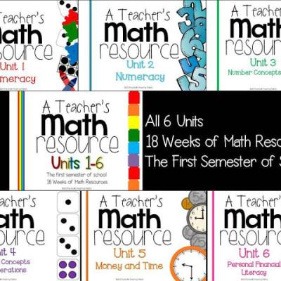 A Teacher's Math Resource Units 1-6 Complete!