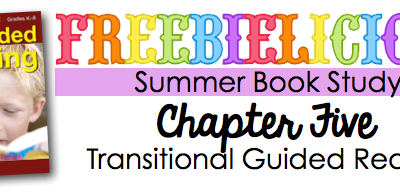 Guided Reading-Transitional Readers Cheat Sheet!