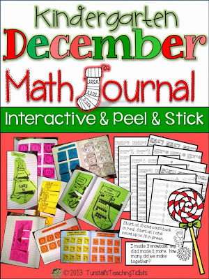 http://www.teacherspayteachers.com/Product/Kindergarten-December-Math-Journal-Interactive-Peel-and-Stick-992387