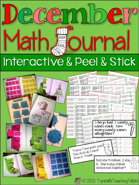 http://www.teacherspayteachers.com/Product/December-Math-Journal-Interactive-Peel-and-Stick-980725