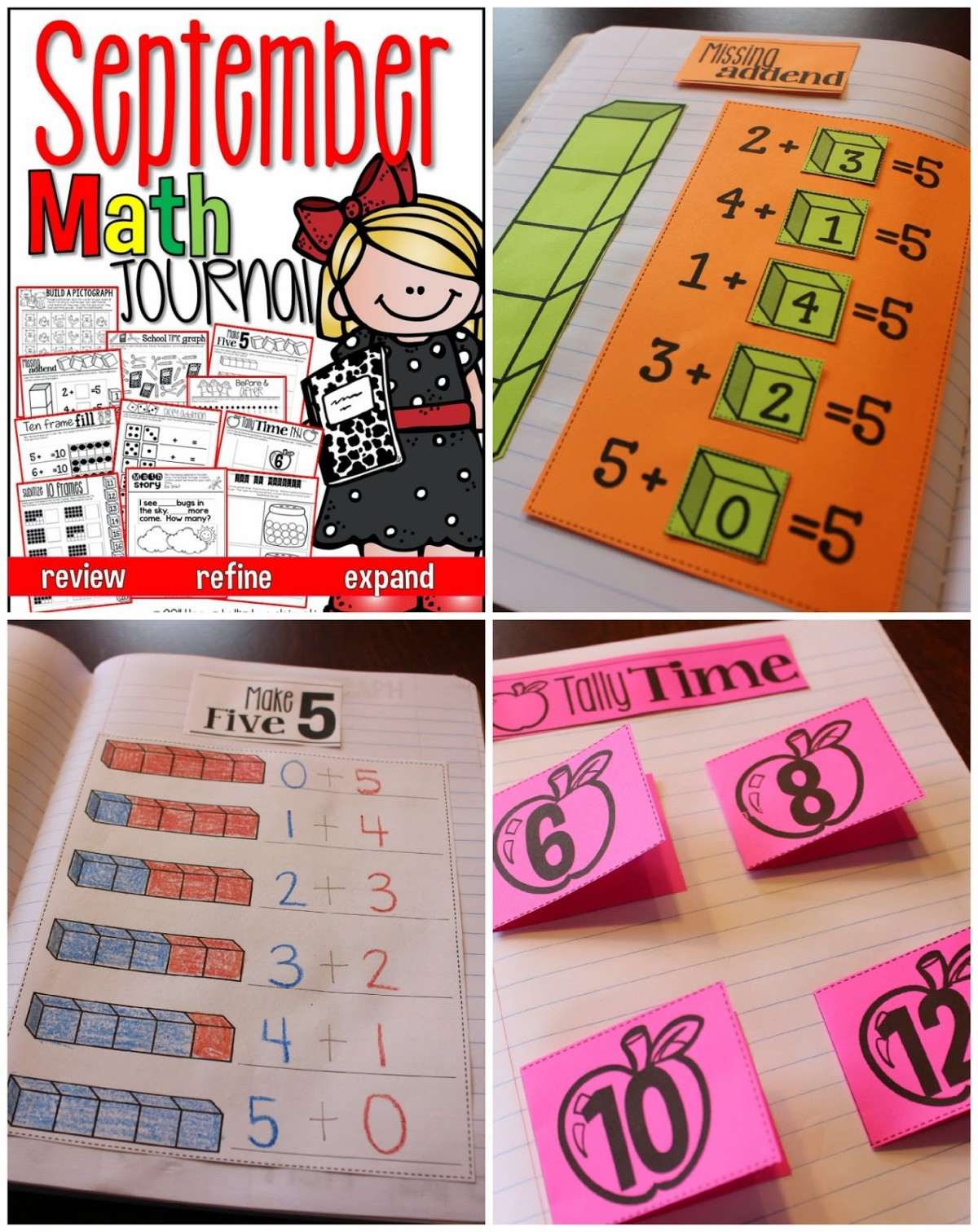 http://www.teacherspayteachers.com/Product/September-Math-Journal-Interactive-Printables-1240861