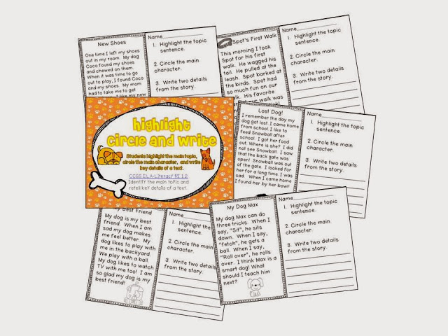 http://www.teacherspayteachers.com/Product/Puppy-Love-Common-Core-Literacy-Centers-and-Printables-495237