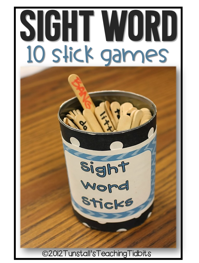 sight word sticks games