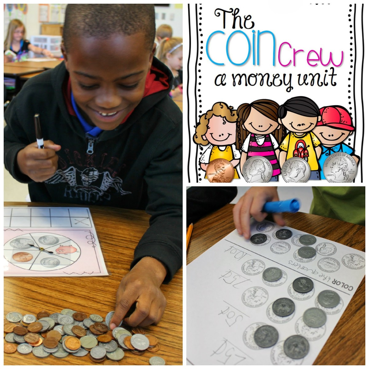http://www.teacherspayteachers.com/Product/The-Coin-Crew-A-Money-Unit-1169008