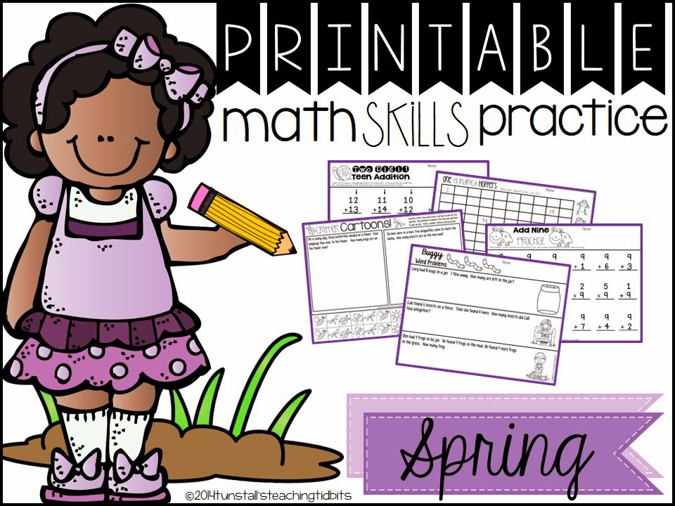 http://www.teacherspayteachers.com/Product/Printable-Math-Skills-Practice-Spring-Edition-1162839