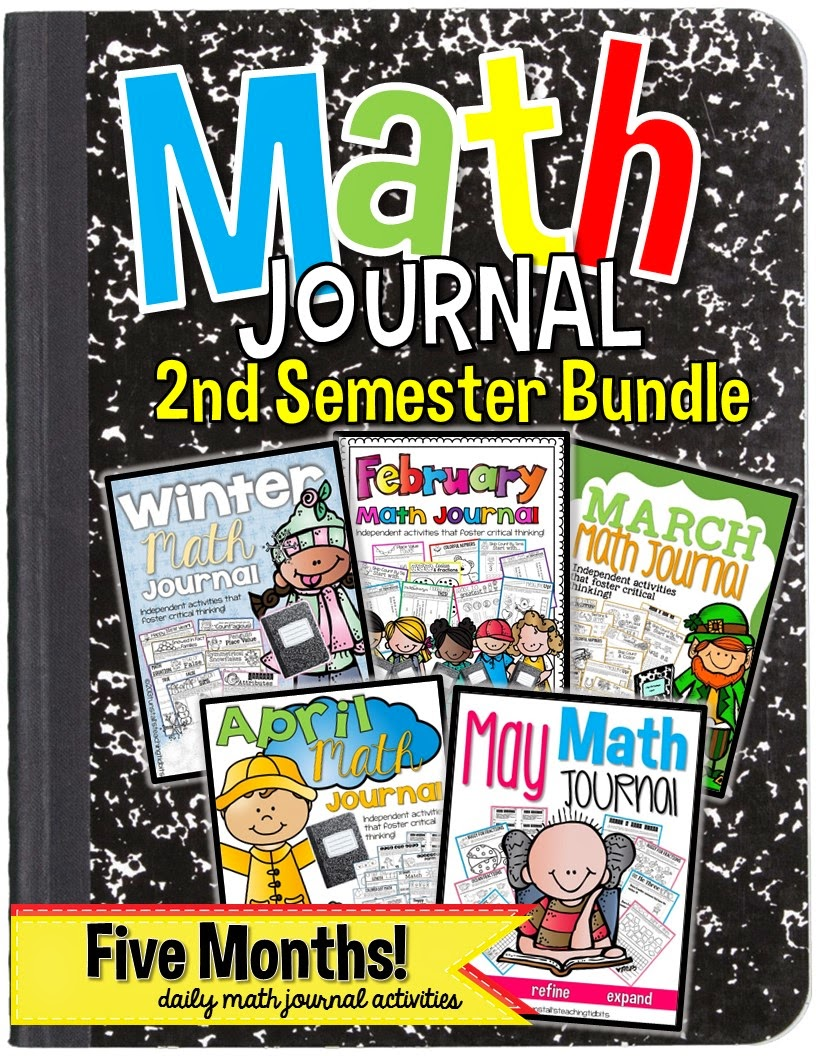 http://www.teacherspayteachers.com/Product/Math-Journal-Bundle-January-Through-May-Interactive-Printables-1222444