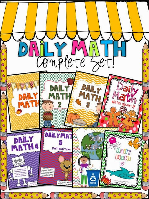 http://www.teacherspayteachers.com/Product/Daily-Math-Complete-Set-264029