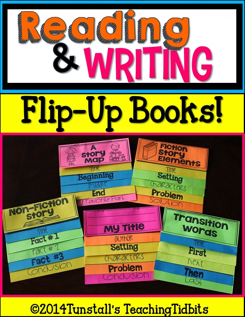 http://www.teacherspayteachers.com/Product/Reading-and-Writing-Flip-Up-Books-1294643