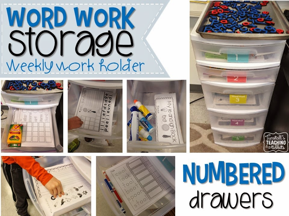 Word Work Storage And Yearly Plan - Tunstall'S Teaching Tidbits