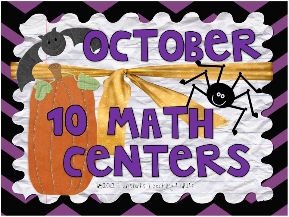 http://www.teacherspayteachers.com/Product/October-10-Math-Centers-334952