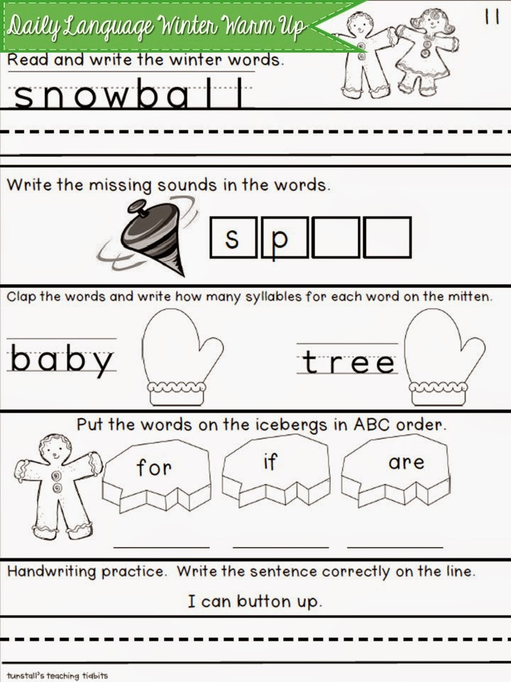 http://www.teacherspayteachers.com/Product/Daily-Language-Winter-Warm-Up-419575