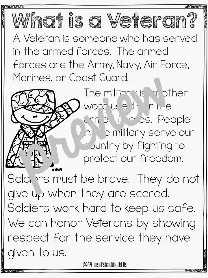 Honoring Veterans in Every Subject! - Tunstall's Teaching Tidbits