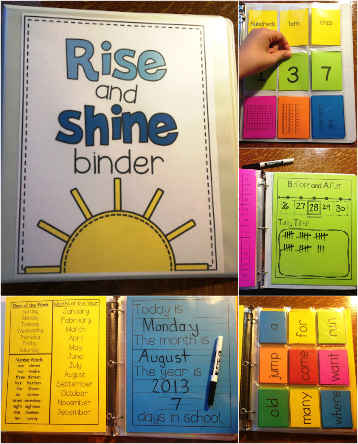 http://www.teacherspayteachers.com/Product/Rise-and-Shine-Binder-762792