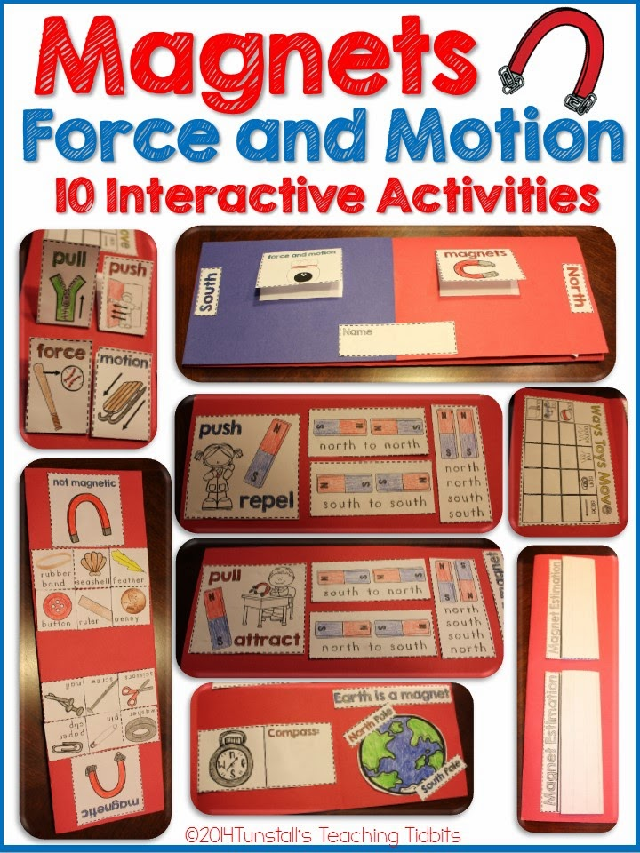 http://www.teacherspayteachers.com/Product/Magnets-and-Force-and-Motion-Interactive-Activities-1583975