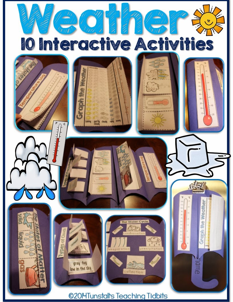 http://www.teacherspayteachers.com/Product/Weather-Interactive-Activities-1582844