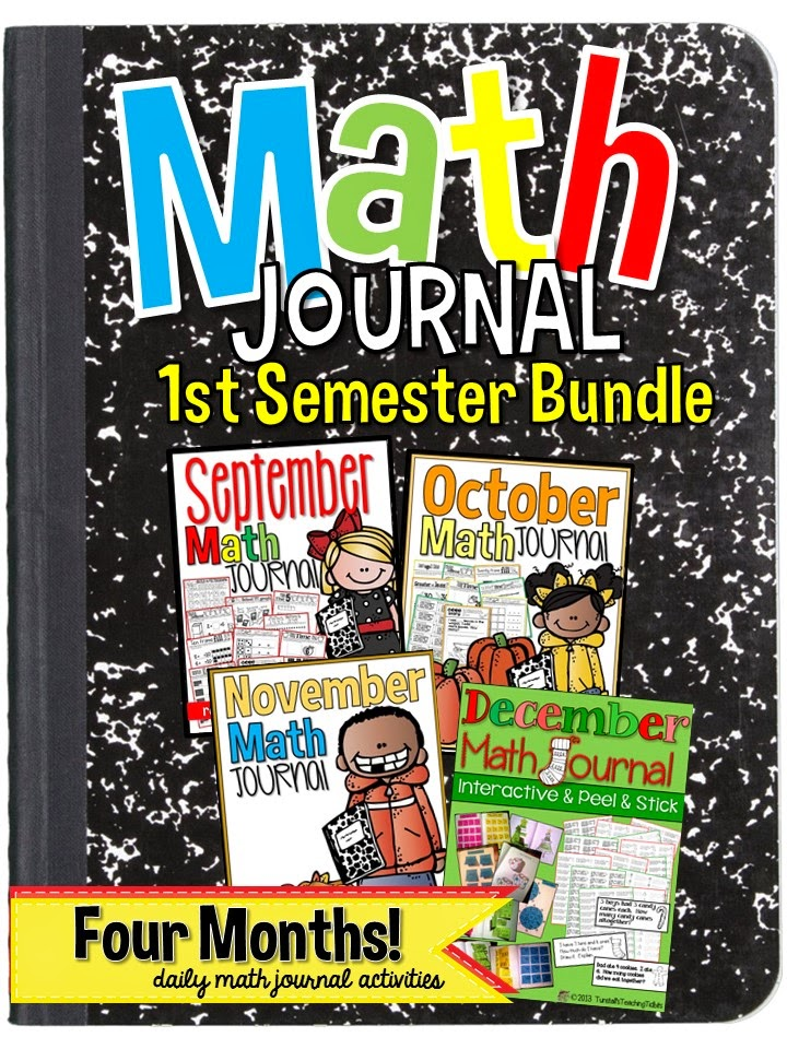 http://www.teacherspayteachers.com/Product/Math-Journal-Bundle-First-Semester-1276935