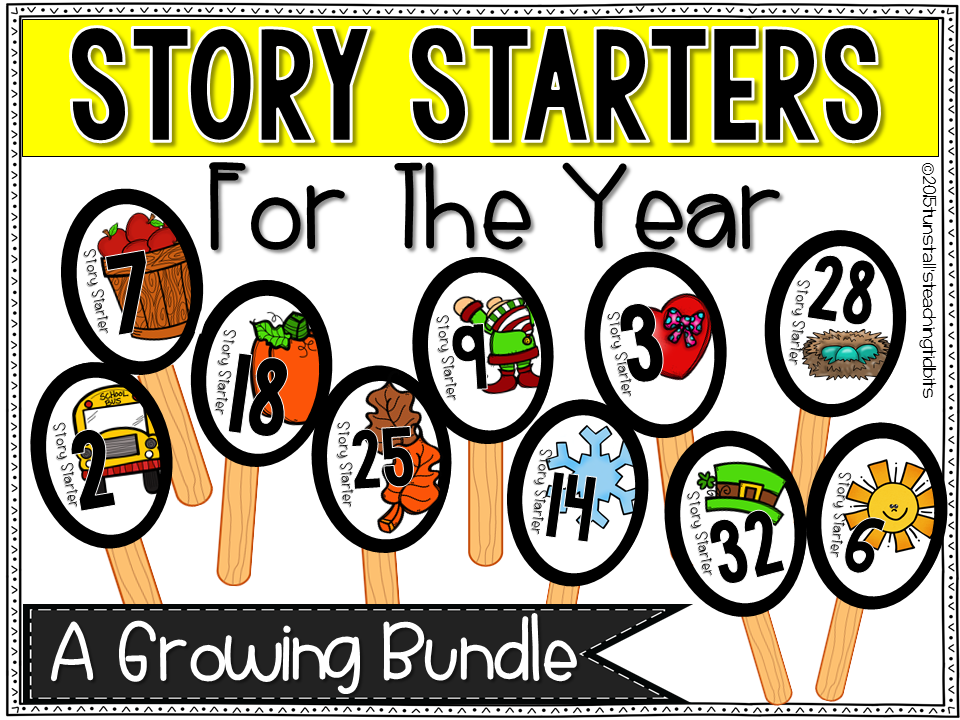 https://www.teacherspayteachers.com/Product/Story-Starters-For-the-Year-1708299