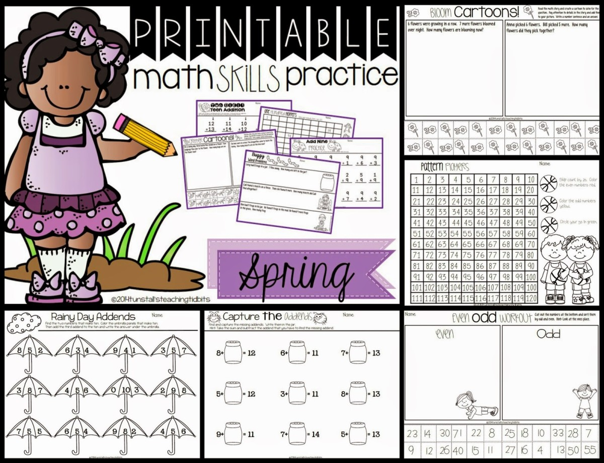 https://www.teacherspayteachers.com/Product/Printable-Math-Skills-Practice-Spring-Edition-1162839