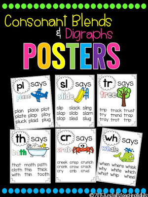 https://www.teacherspayteachers.com/Product/Phonics-Posters-Blends-and-Digraphs-1824709