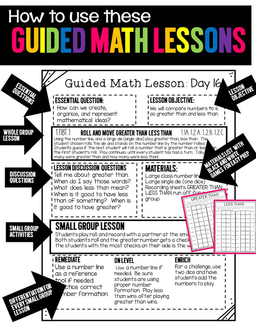 https://www.teacherspayteachers.com/Product/Guided-Math-Lessons-First-Grade-Unit-1-1931638