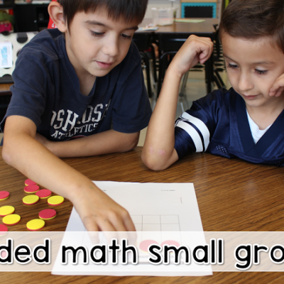 Guided Math Whole Group to Small Group
