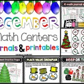 December Math Centers Collage