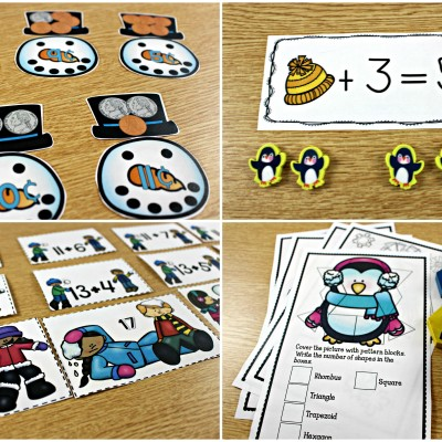 January Math Centers, Journals, and Printables