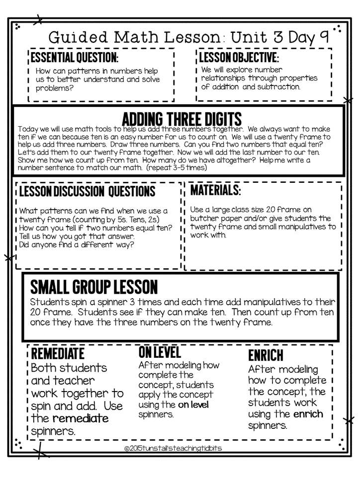 Guided Math - Tunstall\'s Teaching Tidbits