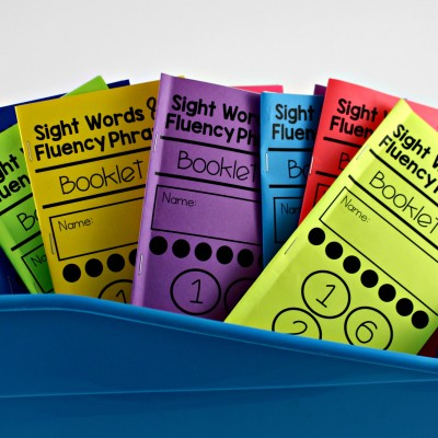 Sight Words and Fluency Phrases Booklets