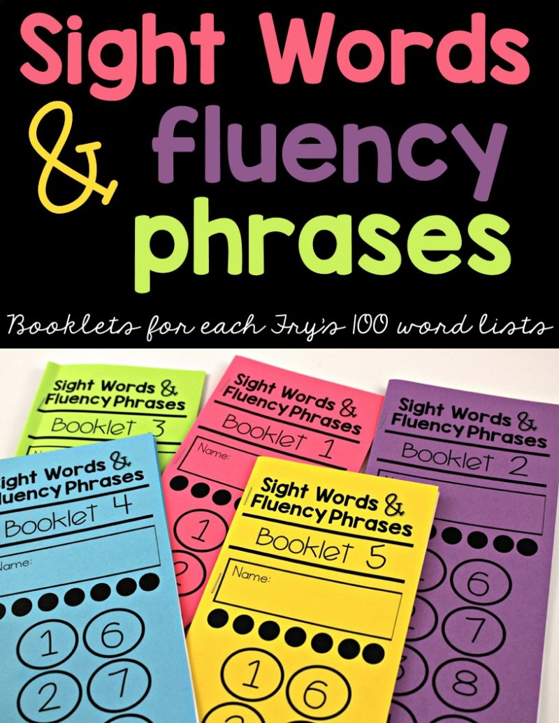 picture regarding Fry Phrases Printable named Sight Terms and Fluency Words and phrases Booklets - Tunstalls
