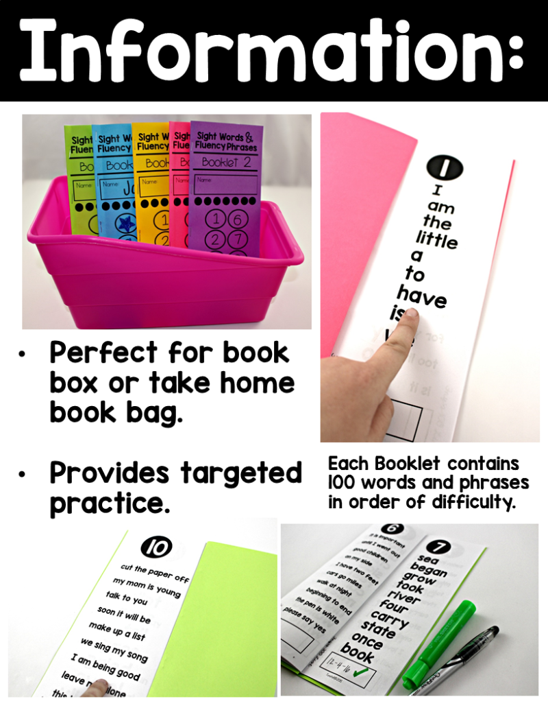 graphic relating to Fry Phrases Printable identify Sight Phrases and Fluency Text Booklets - Tunstalls