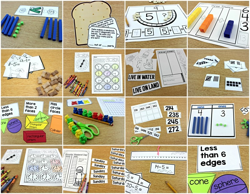 guided math collage