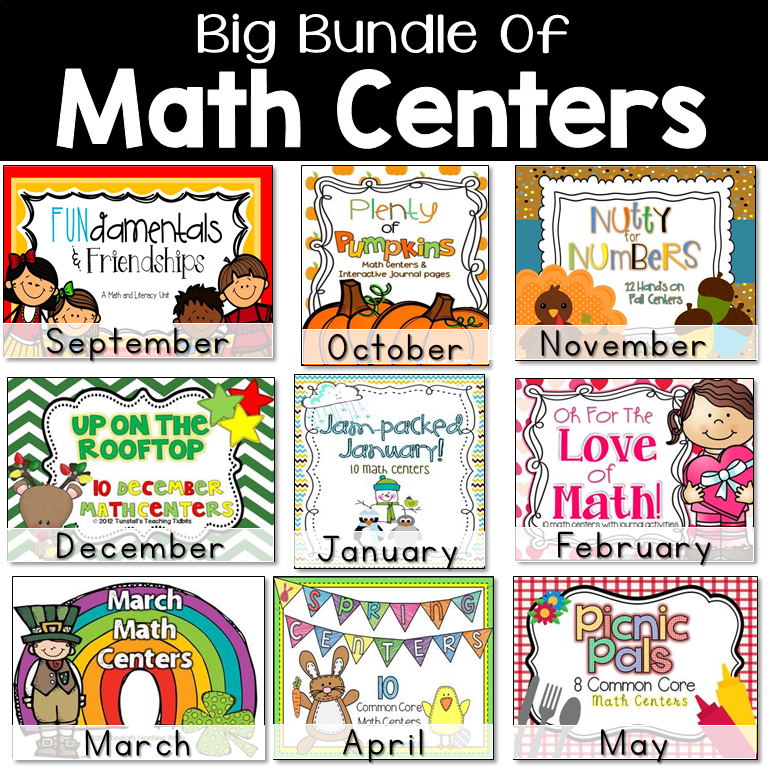 Math Centers For First Grade - Tunstall\'s Teaching Tidbits