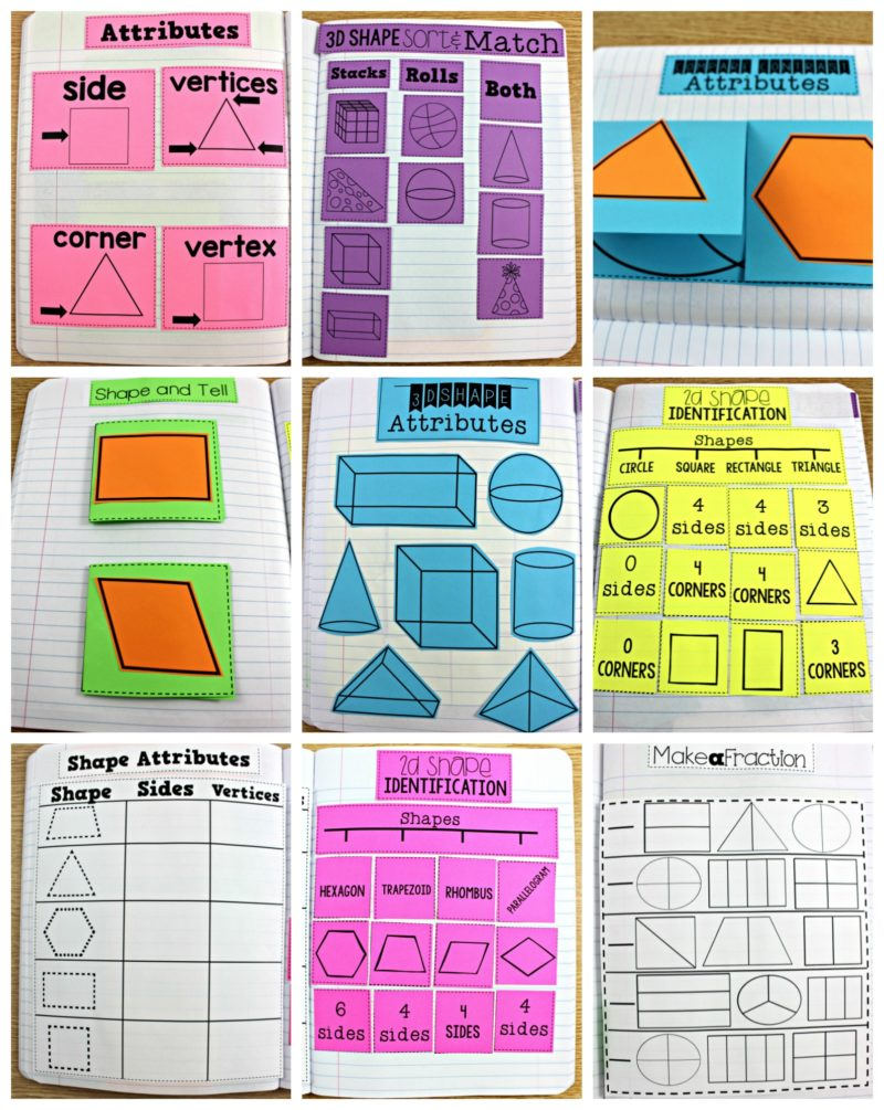 first grade math journals