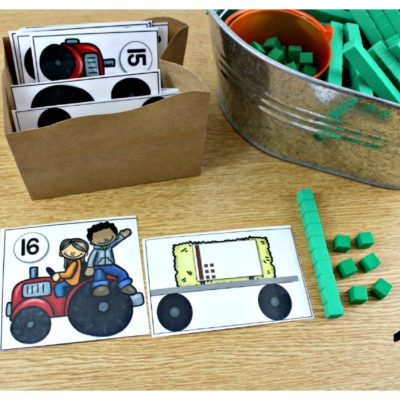 October Math Centers K, 1, and 2