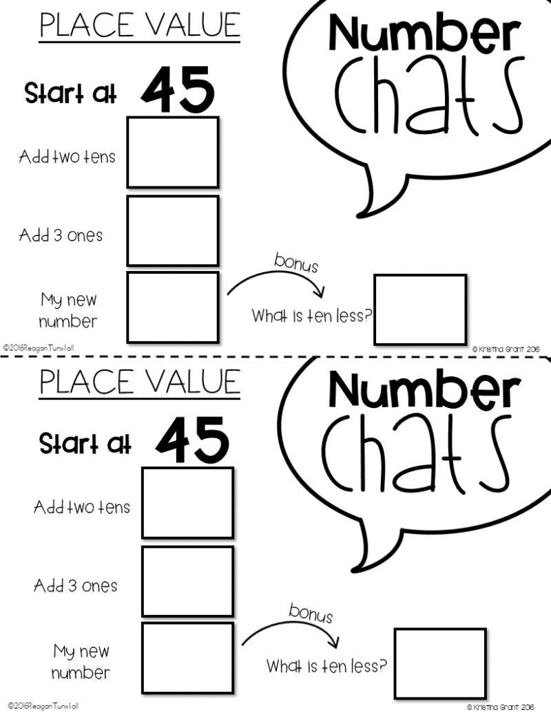 number chats exit tickets and math supplements tunstall s