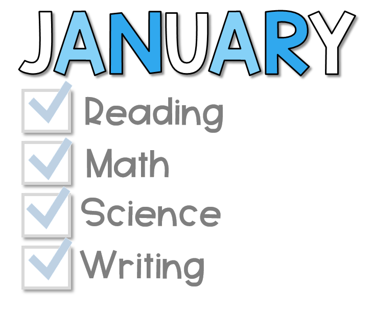 January resources for reading math science and writing for kindergarten ,first grade, and second grade