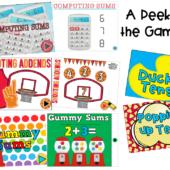 Math games technology