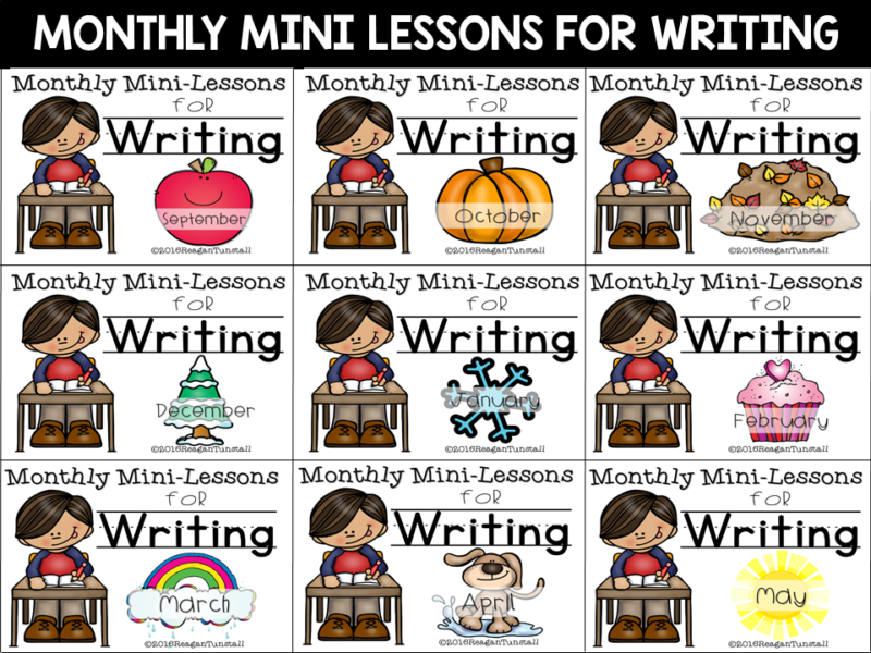 Monthly writing mini-lessons