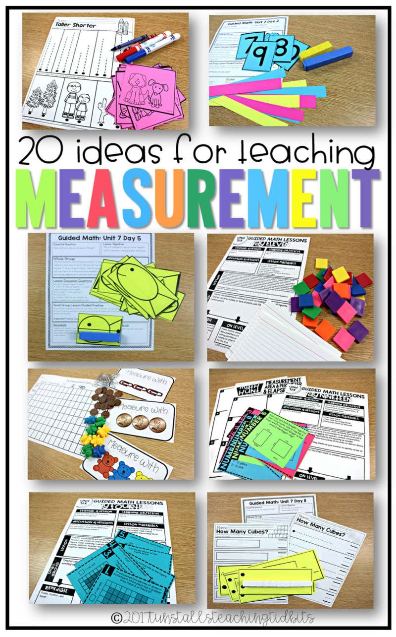 20 ways to teach measurement for kindergarten, first grade, and second grade