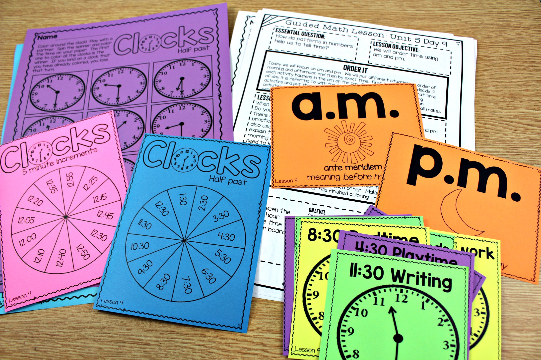All About Teaching Time - Tunstall\'s Teaching Tidbits
