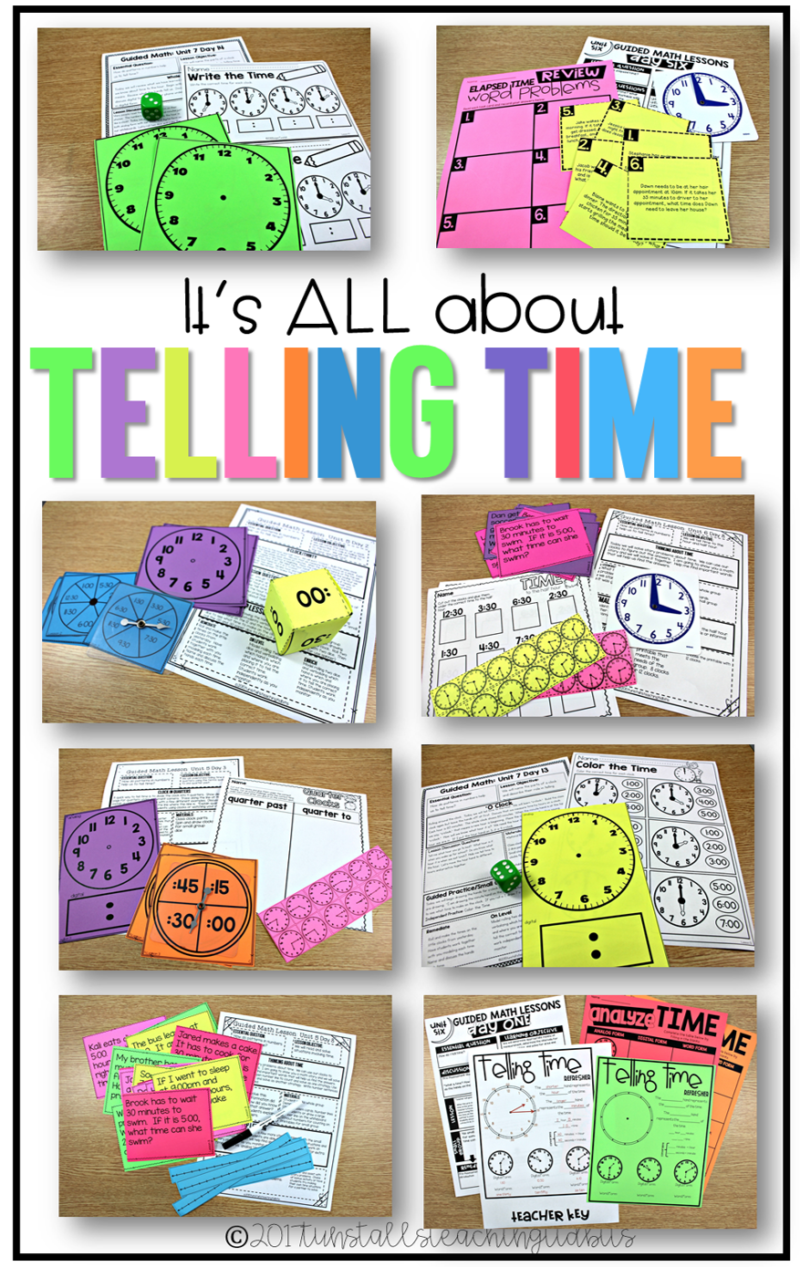 telling time first, second, third grades, teaching time